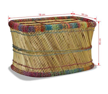 vidaXL Couchtisch Bambus mit Chindi-Details Mehrfarbig[9/9]