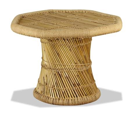 vidaXL sofabord i bambus ottekantet 60 x 60 x 45 cm