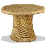 vidaXL Table basse octogonale Bambou 60 x 60 x 45 cm