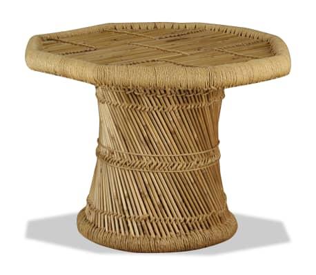 vidaXL Bambukinis kavos staliukas, aštuonkampis, 60x60x45 cm[2/9]