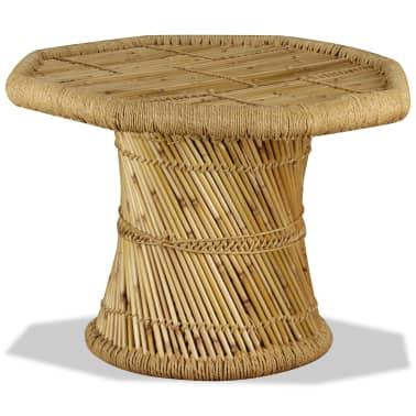 vidaXL Bambukinis kavos staliukas, aštuonkampis, 60x60x45 cm[3/9]