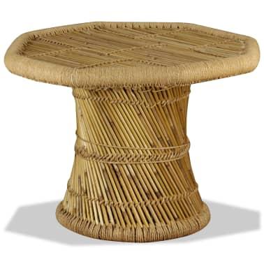 vidaXL Bambukinis kavos staliukas, aštuonkampis, 60x60x45 cm[5/9]