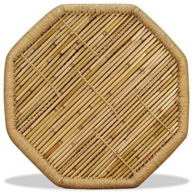 vidaXL Bambukinis kavos staliukas, aštuonkampis, 60x60x45 cm[6/9]