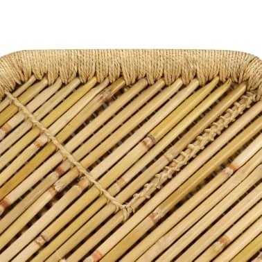 vidaXL Bambukinis kavos staliukas, aštuonkampis, 60x60x45 cm[7/9]