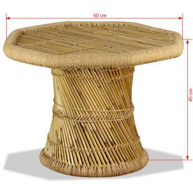 vidaXL Bambukinis kavos staliukas, aštuonkampis, 60x60x45 cm[9/9]