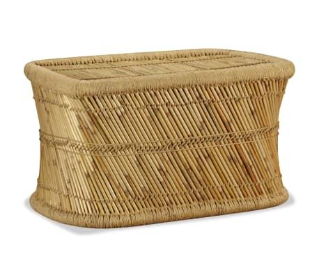 vidaXL Table basse rectangulaire 78 x 50 x 45 cm Bambou