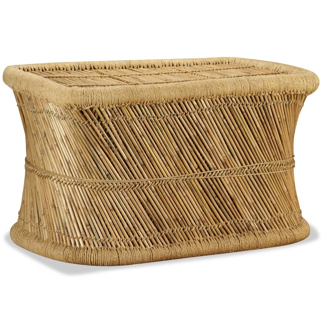 Indexbild 2 - vidaXL Couchtisch Handarbeit Bambus Sofatisch Wohnzimmer Tisch Beistelltisch