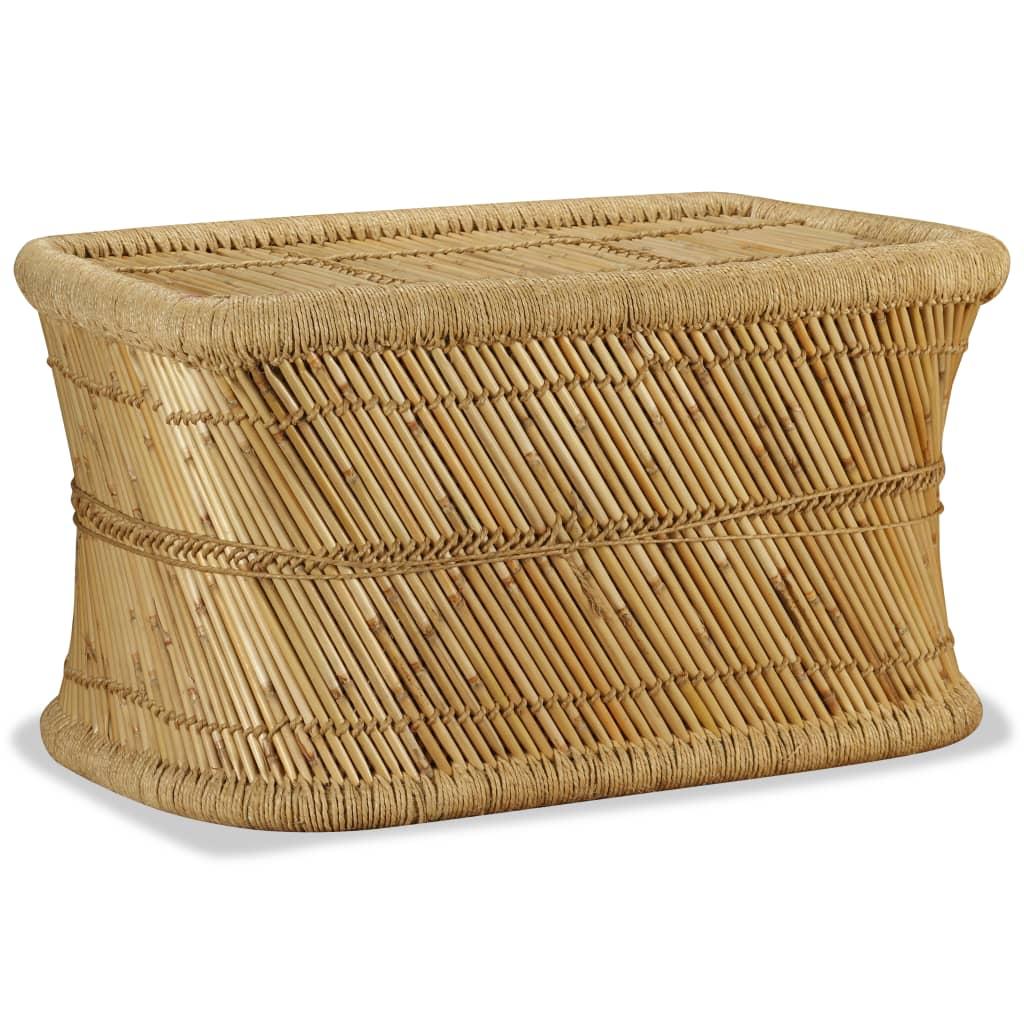 Indexbild 3 - vidaXL Couchtisch Handarbeit Bambus Sofatisch Wohnzimmer Tisch Beistelltisch