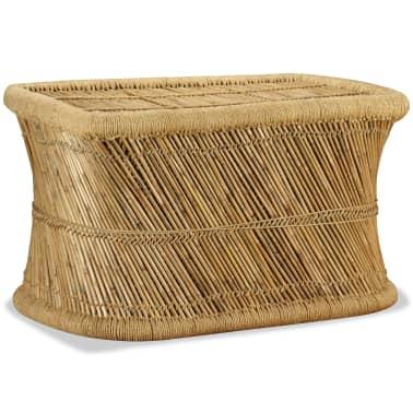 vidaXL Tavolino da Caffè Rettangolare 78x50x45 cm Bambù[2/9]