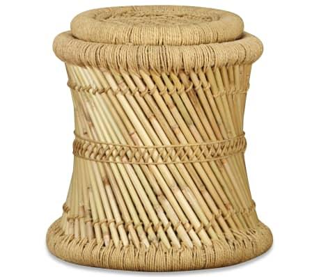 vidaXL Pallar 2 st bambu jute[6/9]