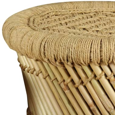 vidaXL Pallar 2 st bambu jute[8/9]