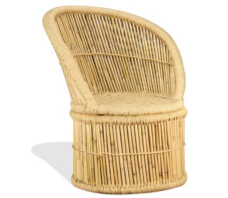 vidaXL Silla de bambú