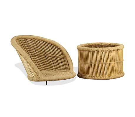 acheter vidaxl chaise en bambou 60 x 61 x 82 cm pas cher. Black Bedroom Furniture Sets. Home Design Ideas