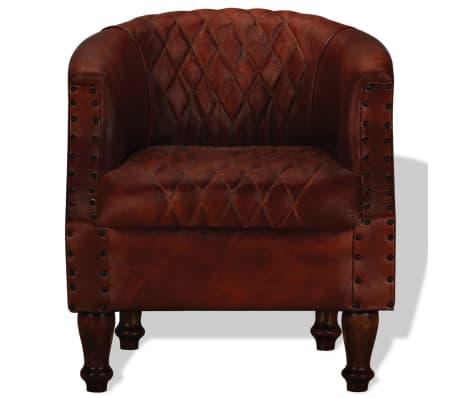 vidaXL Fotelja od Prave Kože Smeđa[2/6]