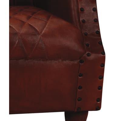 vidaXL Fotelja od Prave Kože Smeđa[3/6]