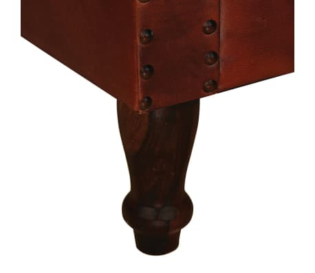 vidaXL Sillón de cuero auténtico marrón[5/6]