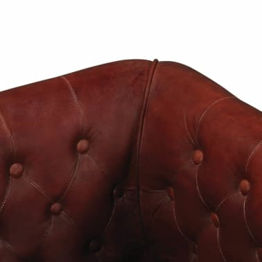 vidaXL Sillón de cuero auténtico marrón[3/6]