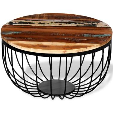 vidaXL Konferenční stolek z masivního recyklovaného dřeva[1/8]