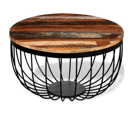 vidaXL Konferenční stolek z masivního recyklovaného dřeva[2/8]