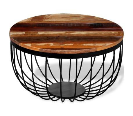vidaXL Konferenční stolek z masivního recyklovaného dřeva[4/8]