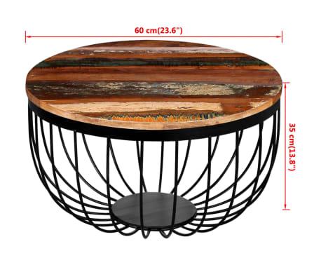 vidaXL Konferenční stolek z masivního recyklovaného dřeva[8/8]