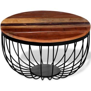 vidaXL Konferenční stolek z masivního recyklovaného dřeva[3/8]