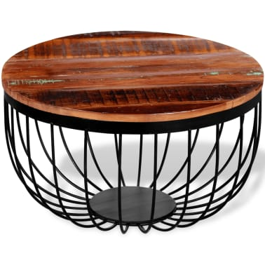 vidaXL Konferenční stolek z masivního recyklovaného dřeva[5/8]