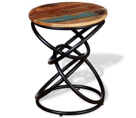 vidaXL End Table Solid Reclaimed Wood