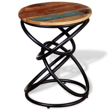 vidaXL End Table Solid Reclaimed Wood[1/7]
