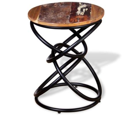 vidaXL End Table Solid Reclaimed Wood[2/7]