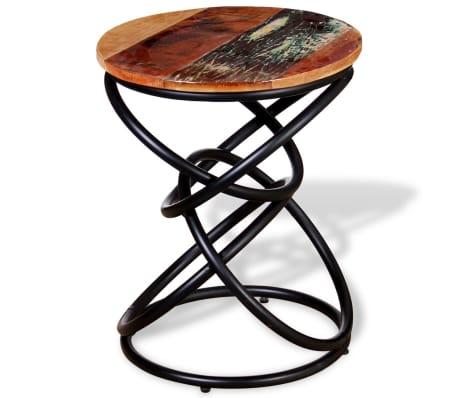vidaXL End Table Solid Reclaimed Wood[5/7]