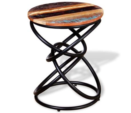 vidaXL End Table Solid Reclaimed Wood[7/7]