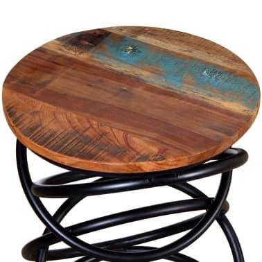 vidaXL End Table Solid Reclaimed Wood[3/7]