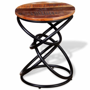 vidaXL End Table Solid Reclaimed Wood[6/7]
