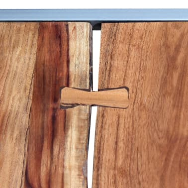 vidaXL Two Piece Coffee Table Set Solid Acacia Wood[6/9]