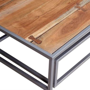 vidaXL Two Piece Coffee Table Set Solid Acacia Wood[8/9]