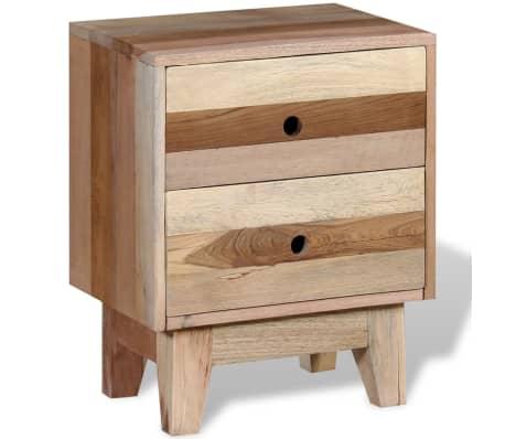 vidaXL Bedside Cabinet Solid Reclaimed Wood[2/8]