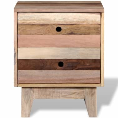 vidaXL Bedside Cabinet Solid Reclaimed Wood[6/8]