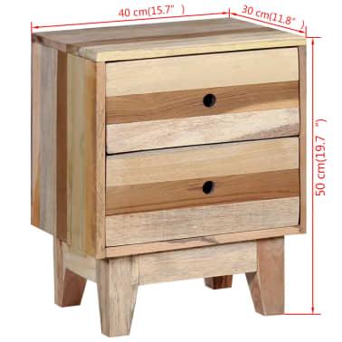 vidaXL Bedside Cabinet Solid Reclaimed Wood[8/8]