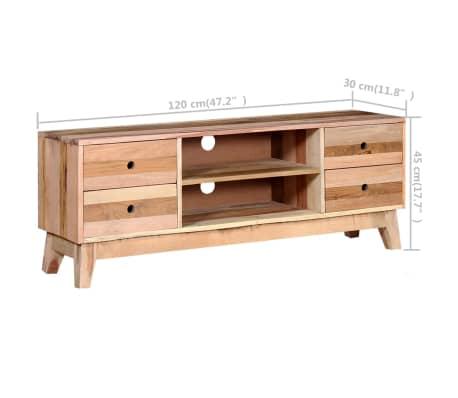 vidaXL Comodă TV din lemn reciclat de esență tare[9/9]