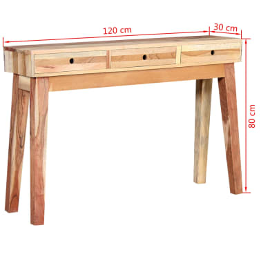 vidaXL Console Table Solid Reclaimed Wood[8/8]