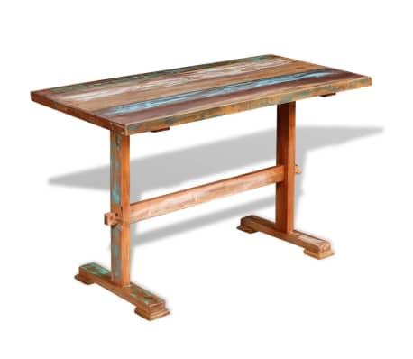 vidaxl esstisch mit holz untergestell recyceltes massivholz 120 x 58 x 78 cm g nstig kaufen. Black Bedroom Furniture Sets. Home Design Ideas
