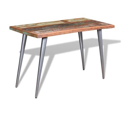 vidaXL Jedálenský stôl z recyklovaného dreva, 120x60x76 cm