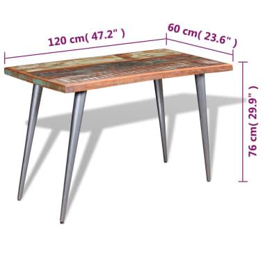 "vidaXL Dining Table Solid Reclaimed Wood 47.2""x23.6""x30""[9/9]"