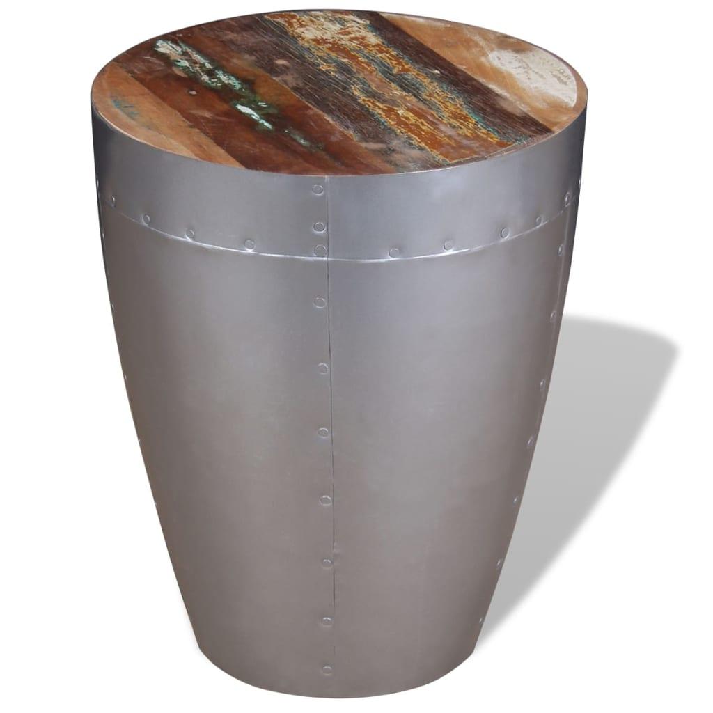 Afbeelding van vidaXL Aviator kruk massief gerecycled hout 36x44 cm