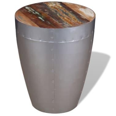 "vidaXL Aviator Stool Solid Reclaimed Wood 14.2""x17.3""[1/8]"