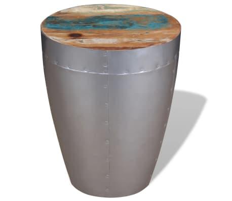 "vidaXL Aviator Stool Solid Reclaimed Wood 14.2""x17.3""[4/8]"
