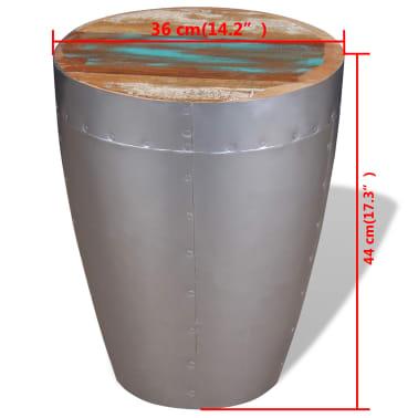 "vidaXL Aviator Stool Solid Reclaimed Wood 14.2""x17.3""[8/8]"