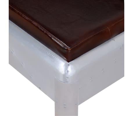 """vidaXL Aviator Bench Genuine Leather 63""""x12.6""""x17.7""""[3/4]"""