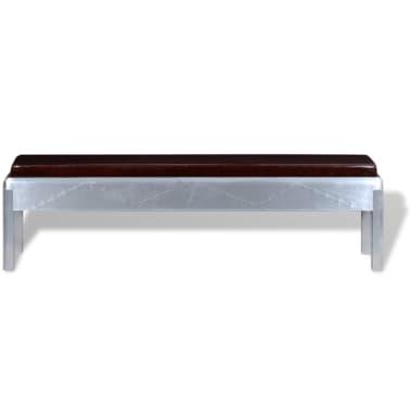 """vidaXL Aviator Bench Genuine Leather 63""""x12.6""""x17.7""""[2/4]"""